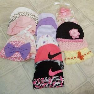 16 piece new Nike bundle of baby beanies